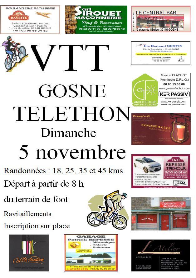 Randonnée VTT en faveur du Téléthon