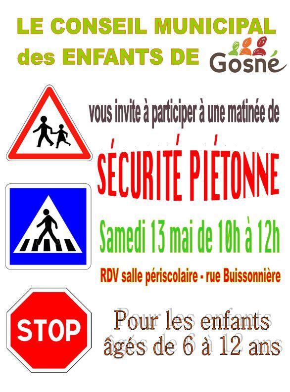 Sécurité piétonne 13 mai de 10h à 12h