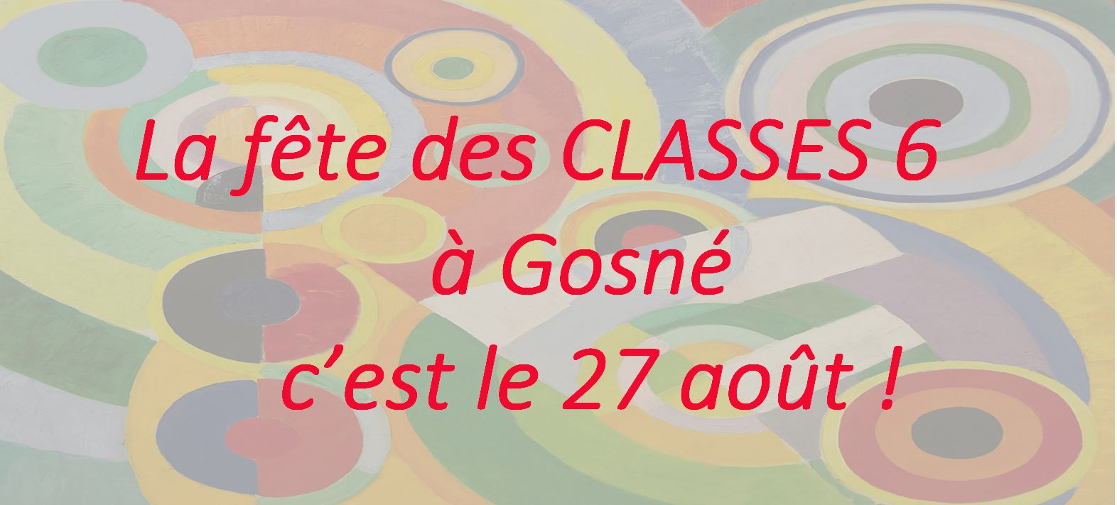 Fête des classes 6