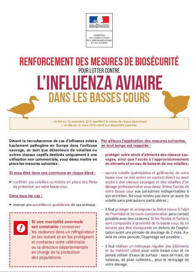Consulter les mesures de biosécurité