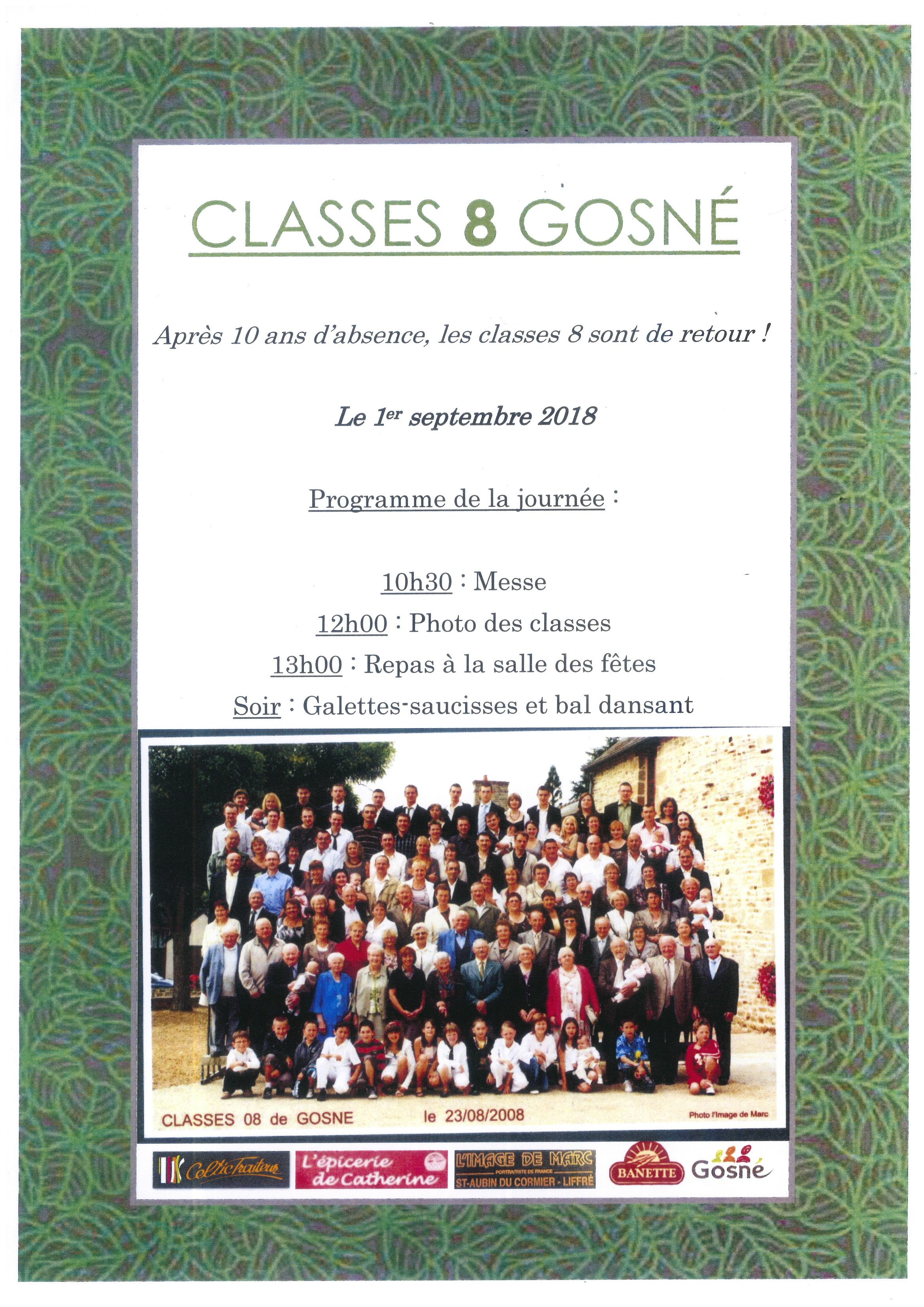 Invitation Classes 8 de Gosné